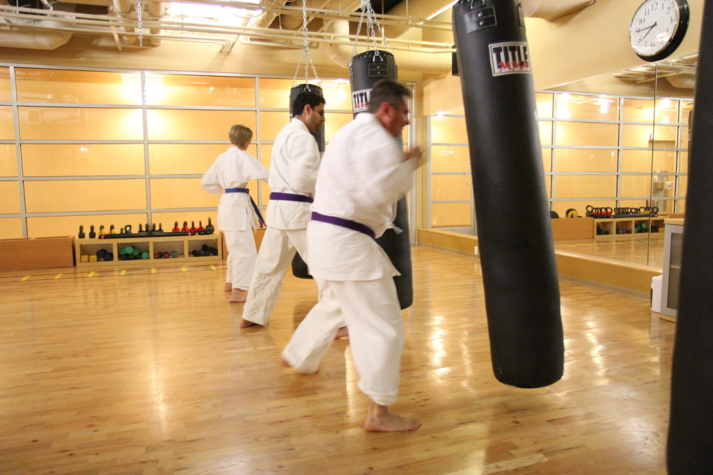 Punching bag workout at Full Potential Martial Arts in Carmel Valley, San Diego, 92130