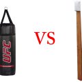 Punching bag and makiwara training comparison