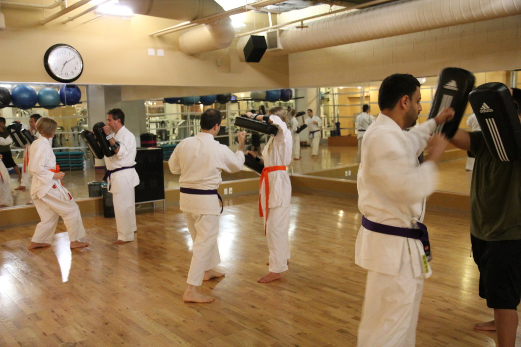 Thai Pad workout at Full Potential Martial arts in Carmel Valley, San Diego, 92130