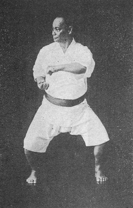 Choki Motobu practicing Naihanchi kata