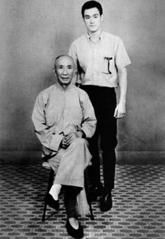 Bruce Lee and his Wing-Chun Instructor, Yip-man