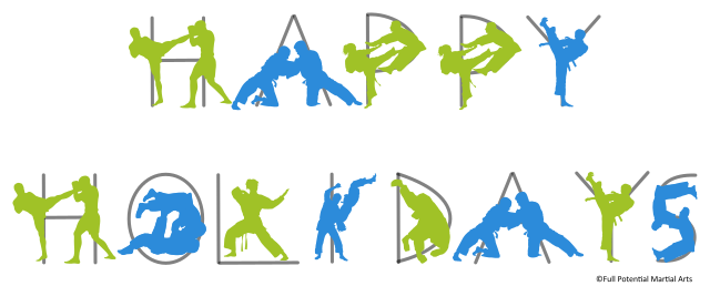 Happy-Holidays-Martial-Arts-Silhouettes